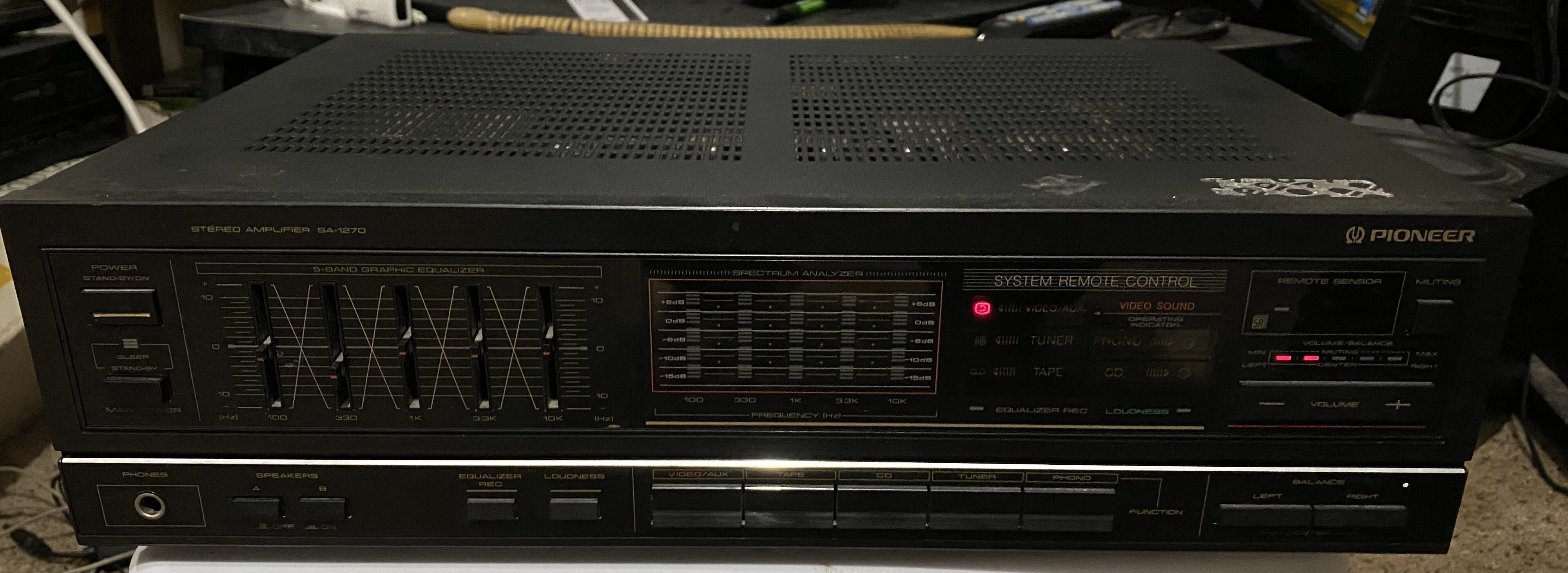 Pioneer SA 1270 integrated amplifier.