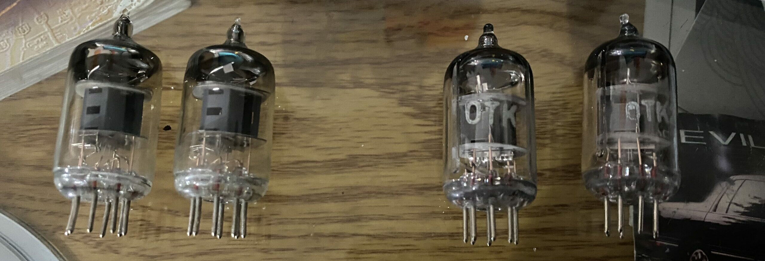 Stock 6J1 Tubes (Left) VS  Voskhod 6J1P-EV Tubes (Right)
