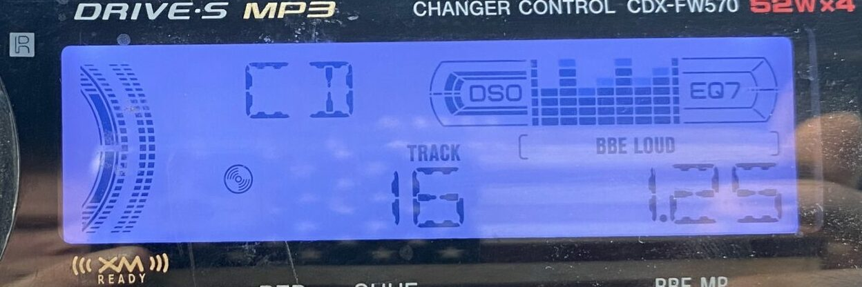 The display of the Sony CDX-FW570.