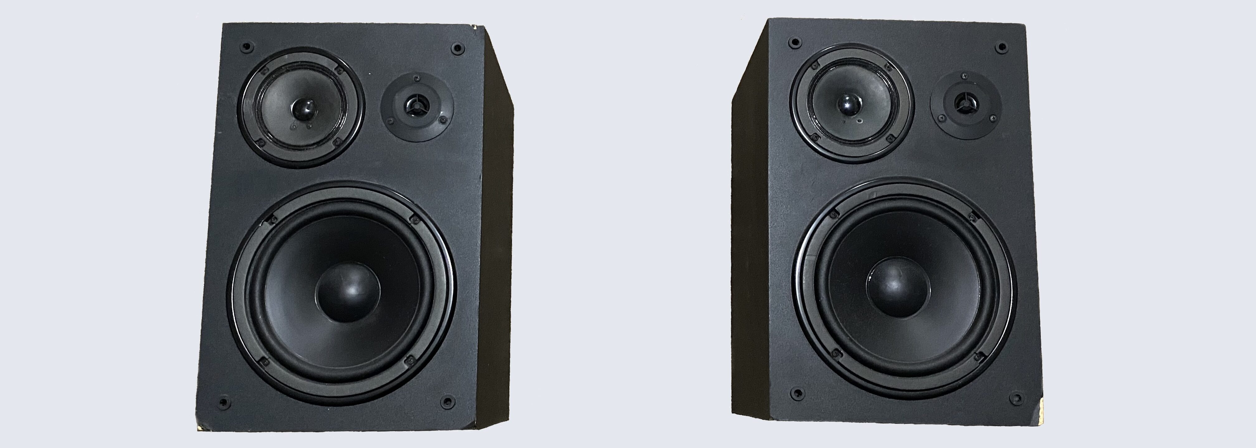 The Yamaha NS-A637 speakers.