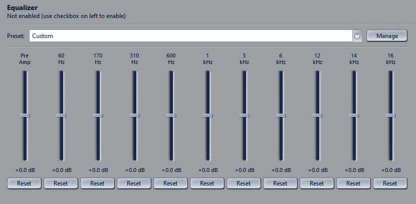Graphical Equalizer On JRiver Media Center
