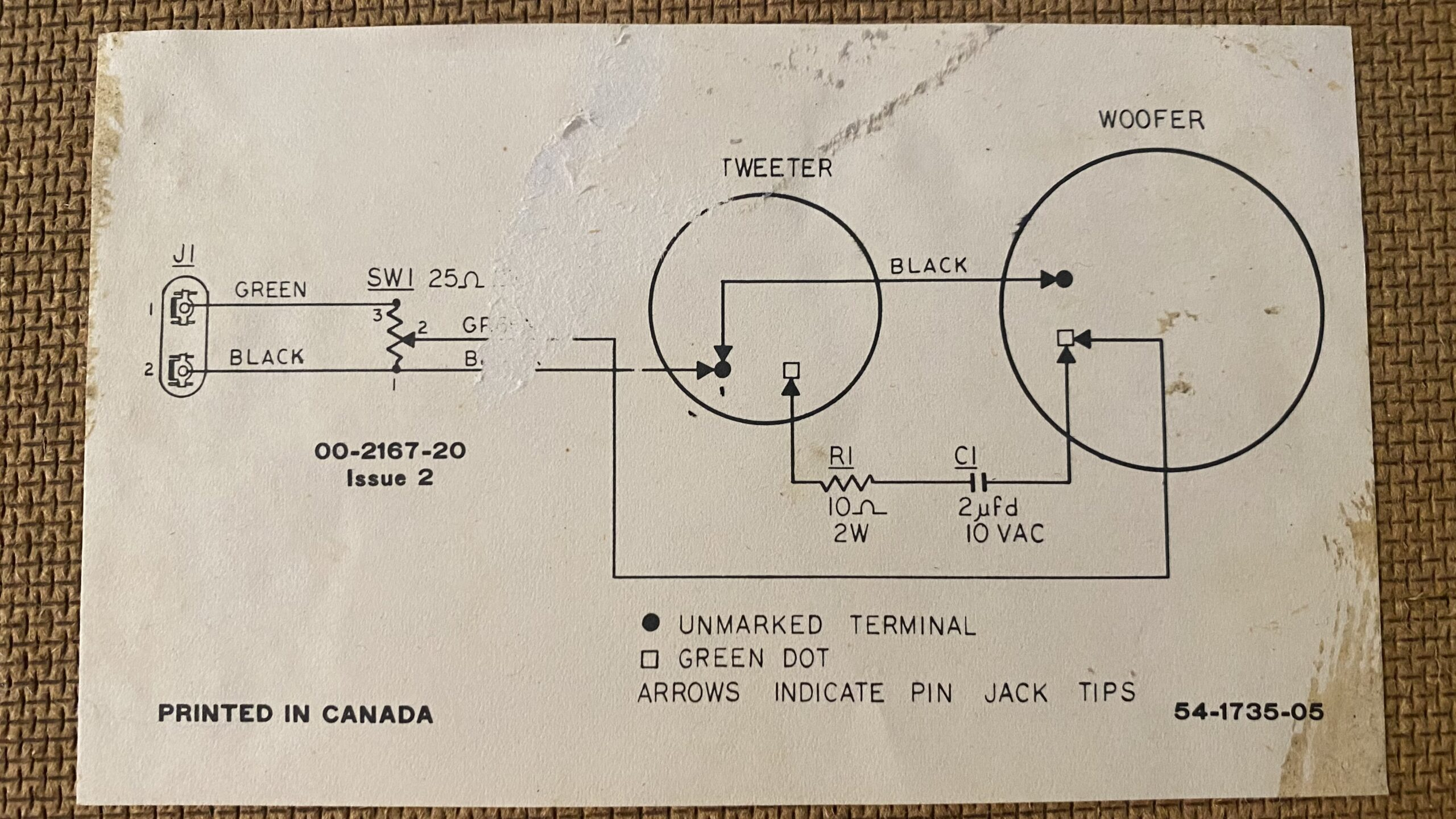 This is the diagram that shows the original wiring of the Electrohome SC 490s.